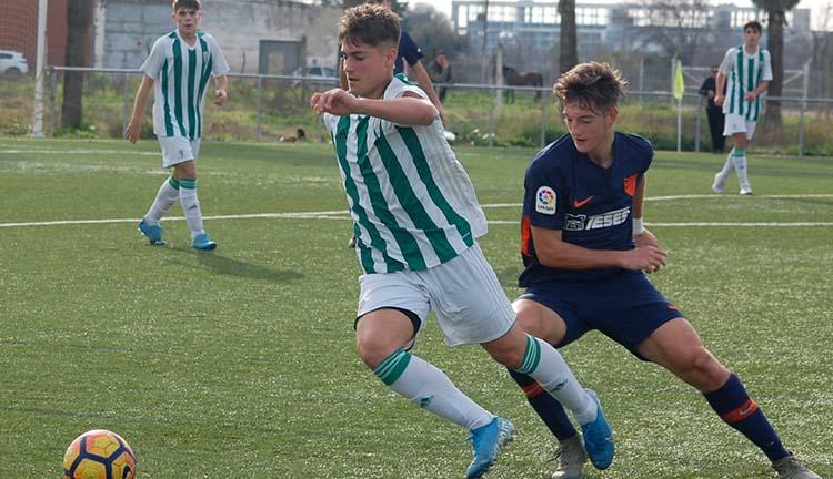 El juvenil Óscar Cantarero en un partido del pasado curso.