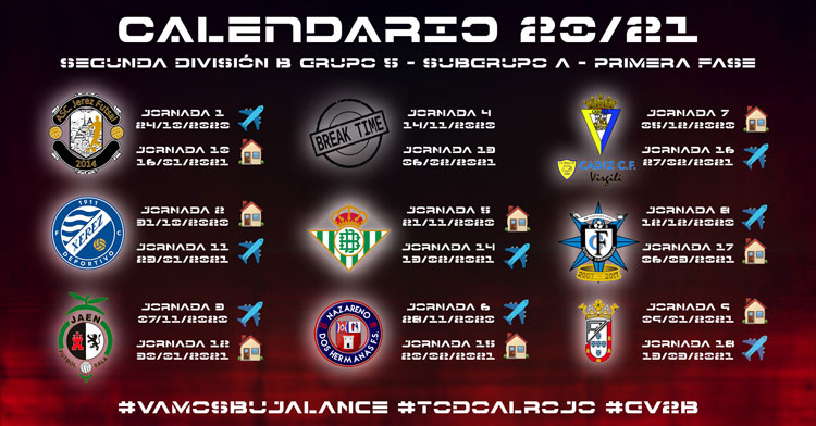 El calendario completo para el equipo de Fermín Hidalgo. Imagen: @BujalanceFS