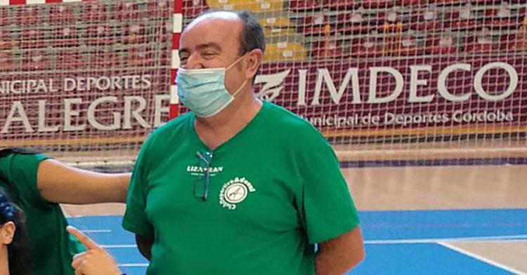 Rafa Moreno esta mañana en el Palacio de Deportes de Vista Alegre