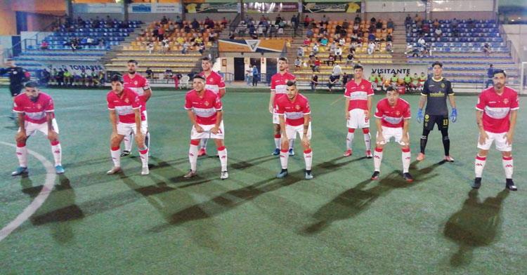 La formación rojilla en Tomares. Foto: Atlético Espeleño