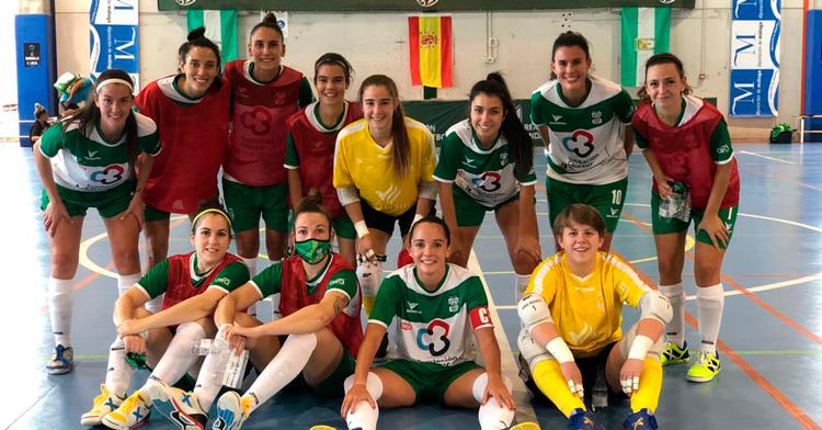 Las jugadoras del Cajasur celebran la victoria ante el Cádiz. Foto: Córdoba Cajasur,