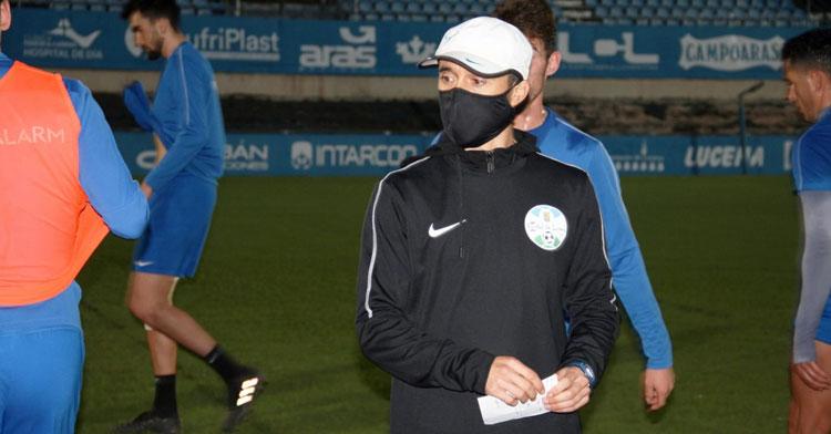 Dimas Carrasco en impasse durante un entrenamiento. Foto: Ciudad de Lucena
