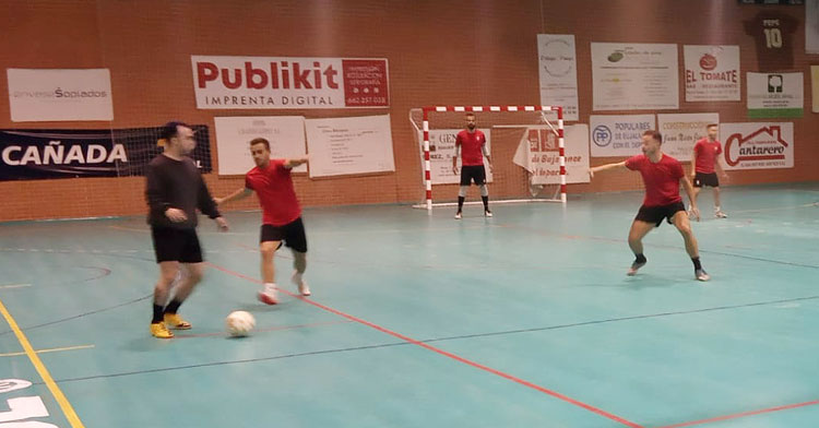 Los jugadores del Bujalance en uno de sus entrenamientos. Foto: Bujalance FS