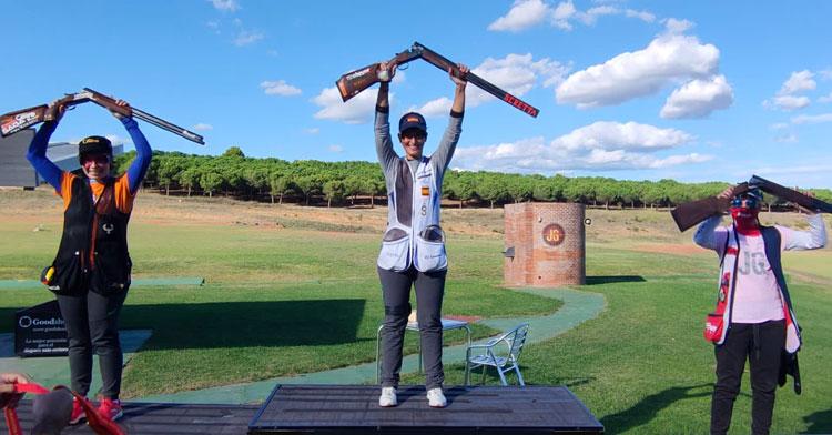 Fátima Gálvez en lo más alto del podio en Mollet del Vallés