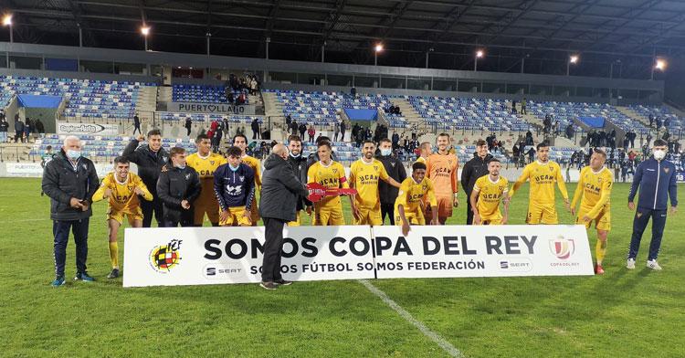 El equipo del UCAM tras clasificarse para la siguiente ronda en la Copa Federación y con ello para la Copa del Rey. Foto: UCAM Murcia