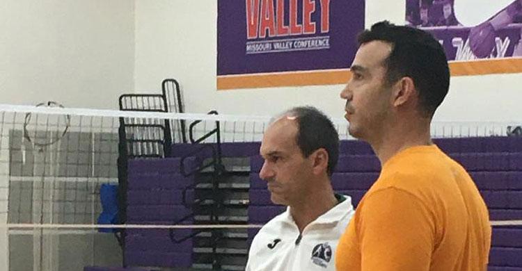 El técnico cordobés Rafa Vargas junto a Fernando Morales, el nuevo seleccionador de Puerto Rico.