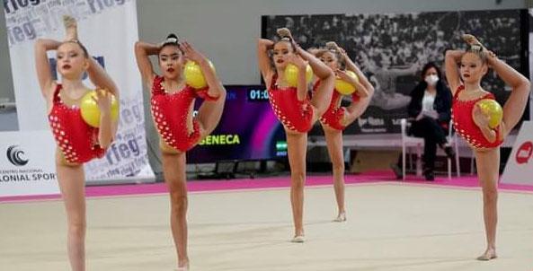 Las alevines del Séneca que rozaron el top ten en Valencia. Foto: RFEG