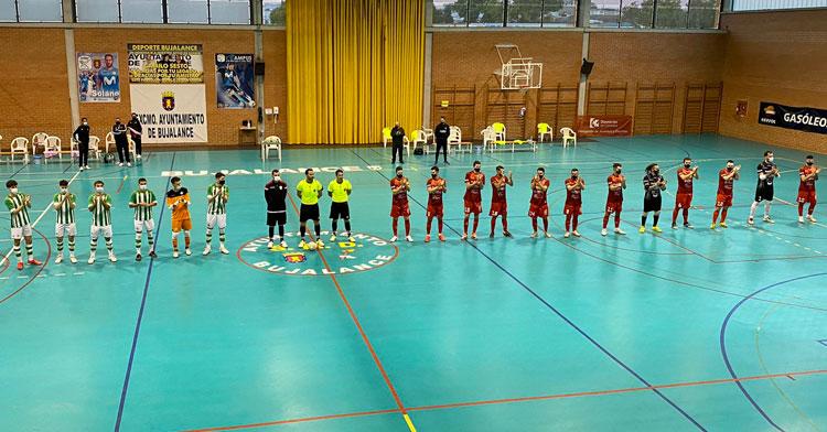 La presentación de los equipos en el José Pérez Pozuelo. Foto: @martintorralbo