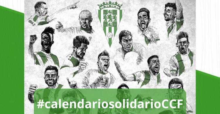 El calendario solidario del Córdoba CF ya está disponible con las caricaturas de todos los futbolista de la plantilla 2020-21.