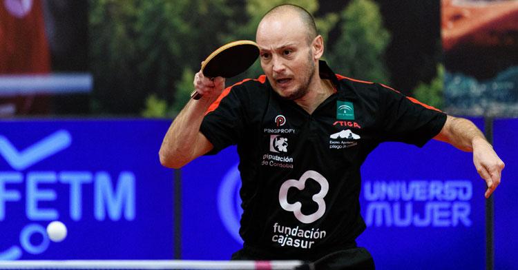 Carlos Machado en acción en el Spain Masters. Foto: Álvaro Díaz.