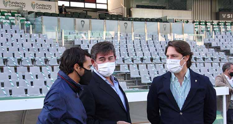 Javier González Calvo en los momentos previos al último duelo en casa del Córdoba CF. Autor: Paco Jiménez