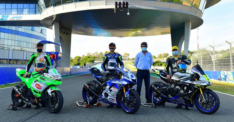 La felicidad de los pilotos de las Balas Verdes en Jerez. Foto: Fernando Sotoca