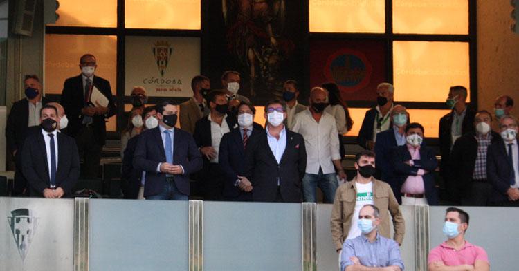El palco de El Arcángel con el alcalde José María Bellido presidiendo junto a Javier González Calvo.