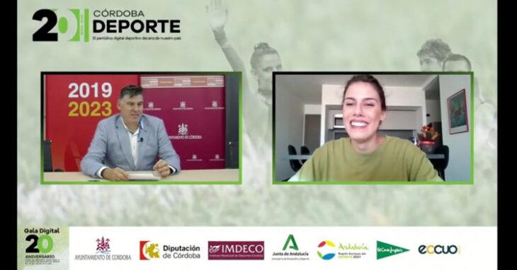 Un momento de la conexión con México para hablar con Lourdes Mohedano en la Gala Digital de Cordobadeporte