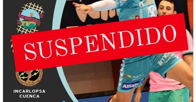 Con esta imagen anunciaba el Ángel Ximénez el aplazamiento del partido ante los conquenses.