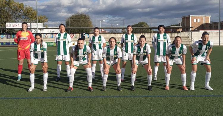 El once del Córdoba Femenino en el partido ante el Cáceres. Foto: CCF