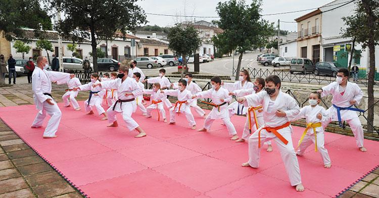 Un momento de la exhibición en Guadalcázar