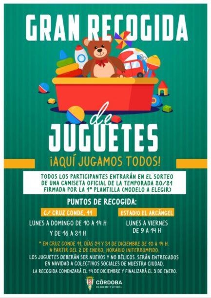 La campaña de recogida de juguetes del Córdoba trae un premio extra para los abonados en agradecimiento a su solidaridad.