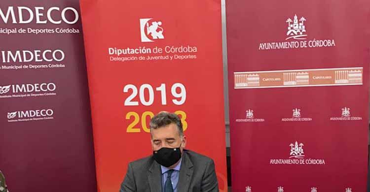 Manuel Torrejimeno, presidente del IMDECO, durante su paso por la Gala Digital de Cordobadeporte.com
