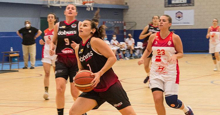 Carmen Casas en el partido contra Jaén, uno de los que pudo jugar. Foto: Gabriele Friscia
