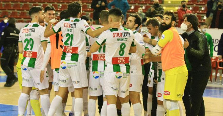Los jugadores del Córdoba Patrimonio, dispuestos a seguir con su lucha. Foto: @CordobaFutsal