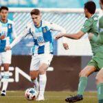 El murciano Josema Raigal jugando con el filial del Espanyol.