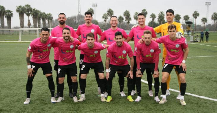 El cuadro celeste, esta vez de rosa, dio la cara en la Ciudad Deportiva. Foto: Ciudad de Lucena