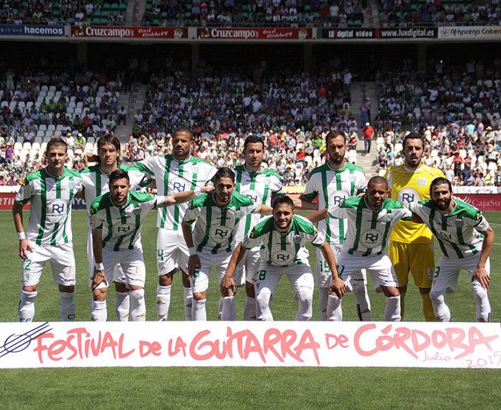 El once titular del Córdoba ante el Barcelona.