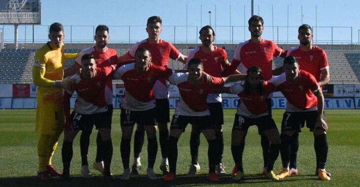El once inicial del Córdoba en Lorca.