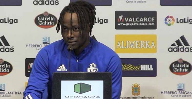 La despedida de Sidibé en Ponferrada antes de llegar cedido al Córdoba CF.