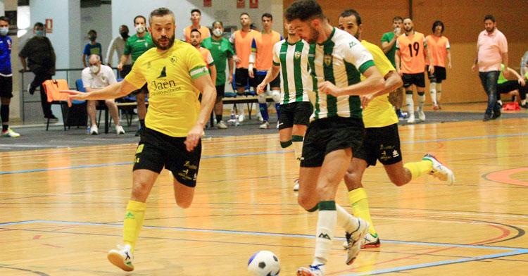 Una imagen del duelo entre Jaén Paraíso Interior y Córdoba Patrimonio correspondiente a la final de la Copa de Andalucía