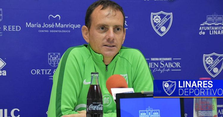 Alberto González en la sala de prensa de Linarejos. Foto: Linares Deportivo
