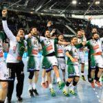 Los jugadores del Ángel Ximénez celebrando su triunfo ante el Granollers en el Wizink Center de Madrid.