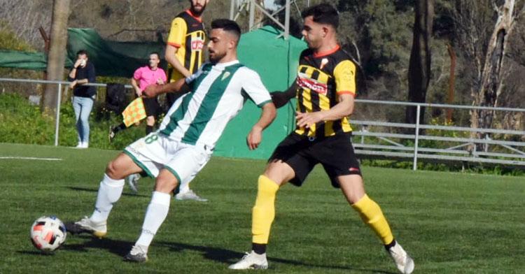 Antonio Moyano en un partido con el Córdoba B. Foto: CCF