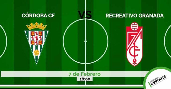 Sigue on line el partido entre el Córdoba CF vs Recreativo Granada.Sigue on line el partido entre el Córdoba CF vs Recreativo Granada.