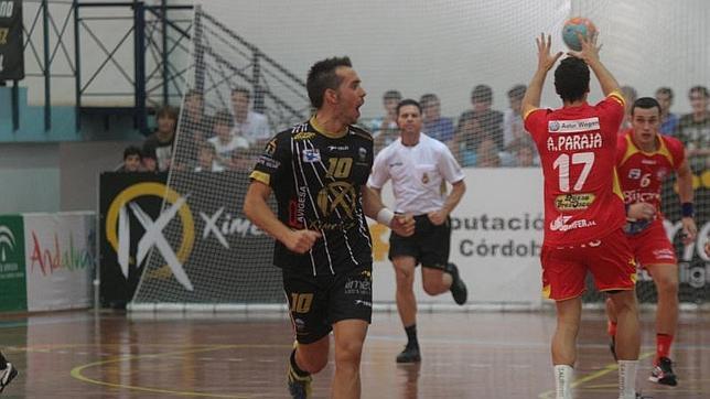 José Cuenca celebrando un gol ante el Villa de Aranda.José Cuenca celebrando un gol ante el Villa de Aranda.
