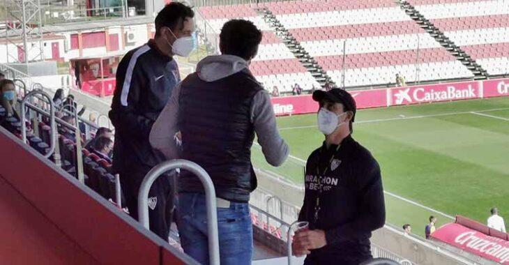 Julen Lopetegui a su llegada a la grada de la Ciudad Deportiva para seguir el partido de su filial ante el Córdoba.