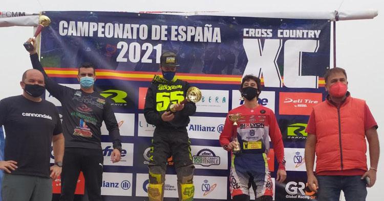 Enrique Pedraza en la segunda plaza del podio en Ciudad Real