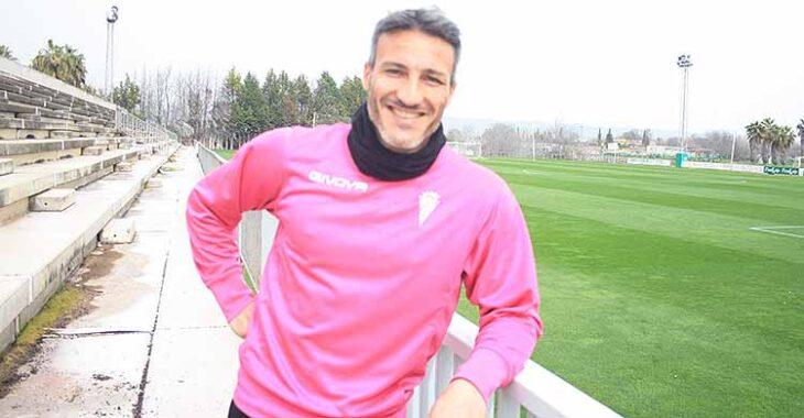 Piovaccari sonríe a la cámara de Cordobadeporte durante la entrevista.