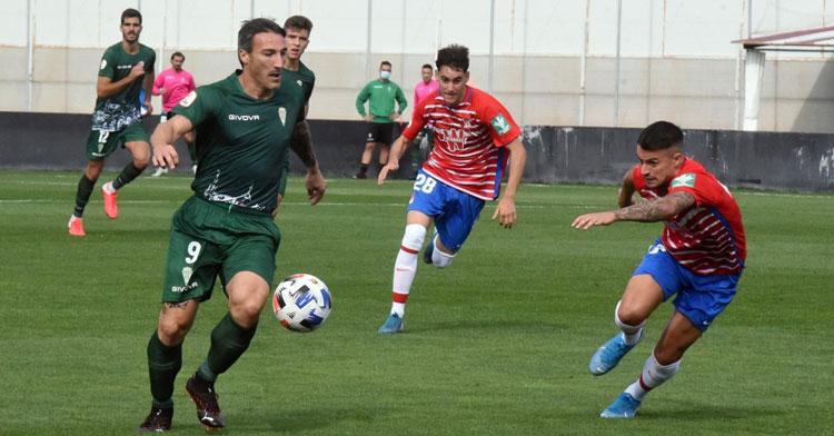Piovaccari en el partido contra el Recreativo Granada en la ida. Foto: CCF