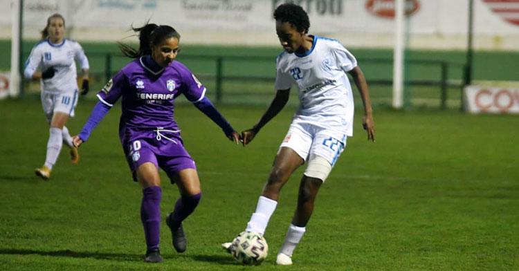 Farlyn Caicedo en el partido contra el Granadilla Tenerife B. Foto: CD Pozoalbense Femenino