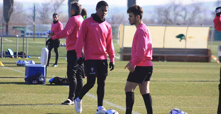 Alberto Salido y Darren Sidoel juntos en un entrenamiento de la semana pasada.