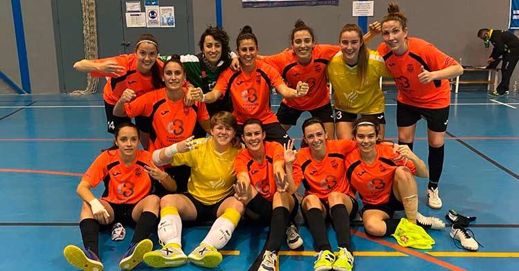 Las jugadoras del Deportivo Cajasur Córdoba celebran la victoria ante Guadalcacín
