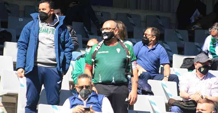 Los seguidores del Córdoba acabarán la temporada en escaso número en el recinto ribereño. Autor: Paco Jiménez