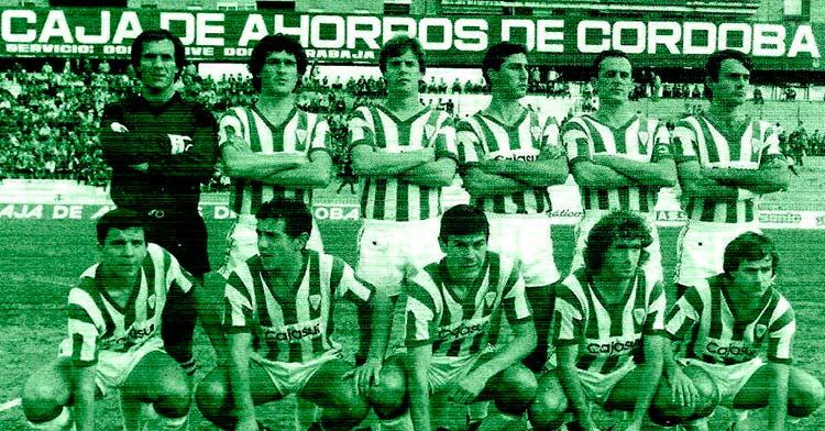Córdoba-Betis Deportivo, temporada 1984/85, con victoria visitante 0-1. Foto: https://equiposdefutbol2.blogspot.com/