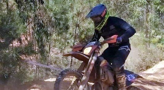 Enrique Pedraza en competición