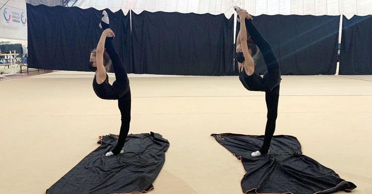 Las gimnastas del Séneca Luna María Luna y Elena Molero