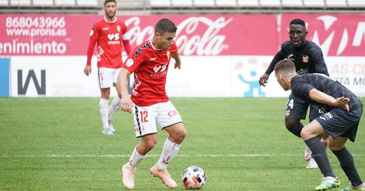 El Real Murcia preparó el encuentro con un amistoso ante La Nucía. Foto: Real Murcia