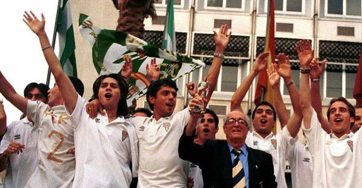 Un joven Loreto festejando el ascenso de Cartagena 1999 junto al inolvidable Litri y Rafa Fernández.Un joven Loreto festejando el ascenso de Cartagena 1999 junto al inolvidable Litri y Rafa Fernández.
