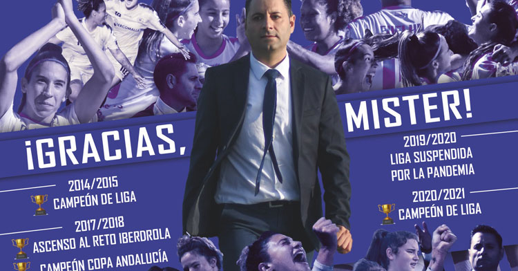 El collage preparado por el Pozoalbense a su entrenador tras el éxito conseguido